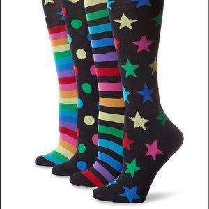 K Bell knee high mix it up socks